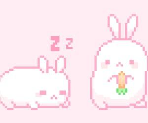 bunny, gif, and kawaii image
