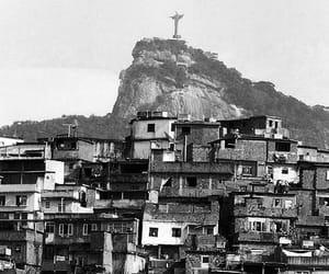 brazil, cristo redentor, and favela image