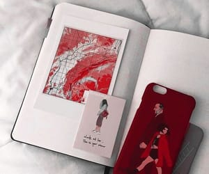 red, aesthetic, and bambi image
