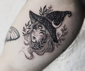 tattoo, ink, and witch image