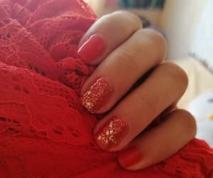 nail art, nails, and red image