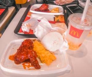 food, fries, and mcdonald image