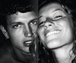 black and white, couple, and model image