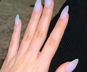 nails, hand, and style image