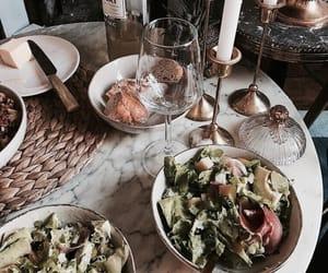food, drinks, and salad image