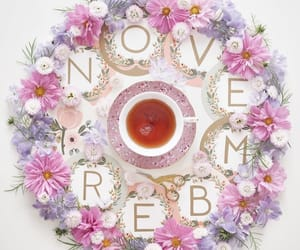 autumn, cup of tea, and flowers image