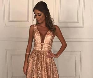 prom dresses, v neck prom dresses, and lace prom dresses image