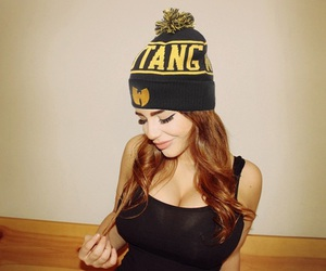 beanie, black, and dope image
