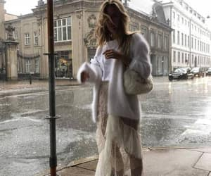 blonde, lace, and rain image