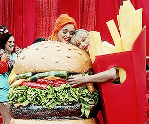 burger, katy perry, and lover image
