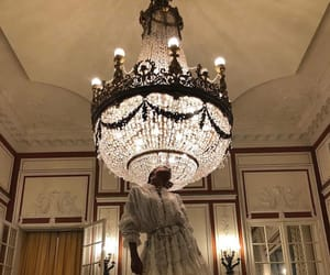 chandelier, dress, and luxury image
