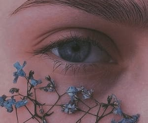 eyes, flowers, and aesthetic image
