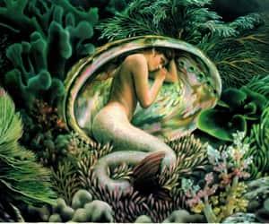 dreaming, underwater, and mermaid image