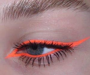makeup, eyes, and orange image