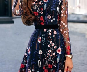 blue, dress, and accessoires image