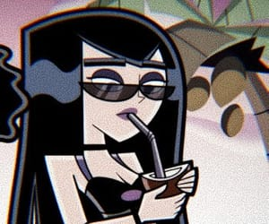 cartoon, black, and danny phantom image