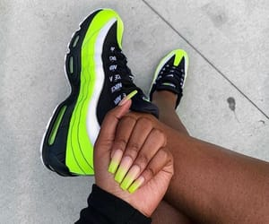green, shoes, and nike air image