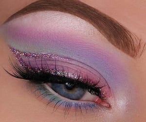 eye, makeup, and eye makeup image