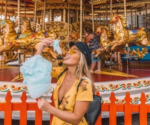 amusement park, blonde, and girl image