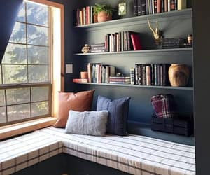home, book, and home decor image