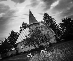aesthetic, church, and haunted image