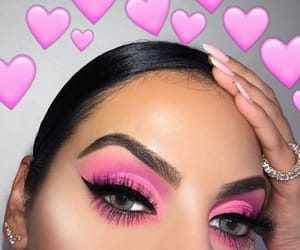 beauty, eyelashes, and eyeshadow image