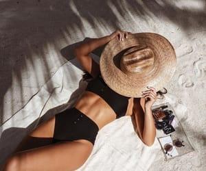 bikini, summer, and tan image