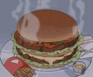 animation, burger, and food image