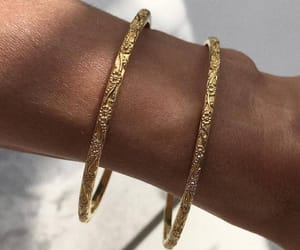 gold, bracelet, and accessories image