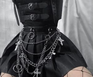 black, chains, and aesthetic image