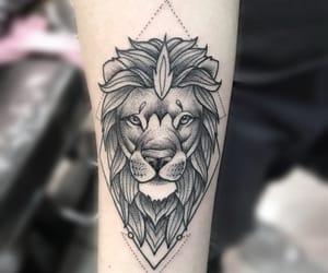 lion, tatto, and tattoo image
