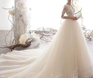 bridal, bridal gown, and lace image