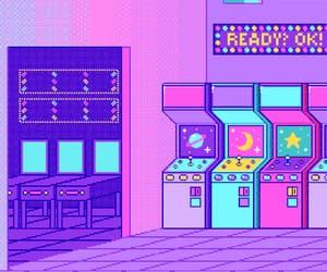 arcades, kawaii, and retro image