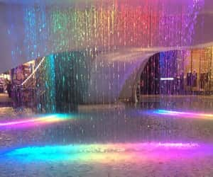 aesthetic, rainbow, and water image