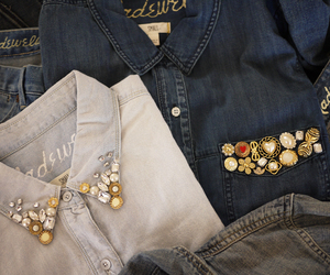 shirt, diy, and denim image