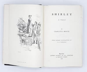books, shirley, and charlotte bronte image
