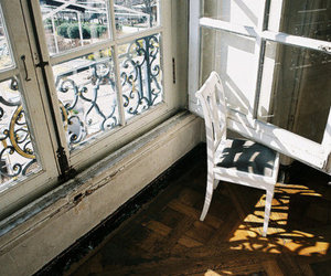 window, chair, and photography image