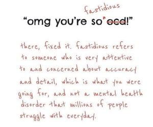 fastidious, mental health, and ocd image