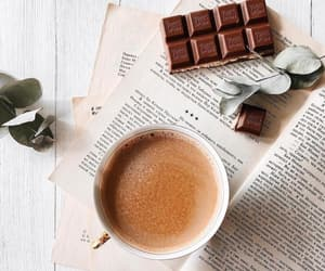 chocolate, coffee, and cup of coffee image