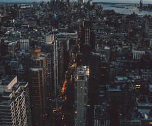 city, new york, and light image
