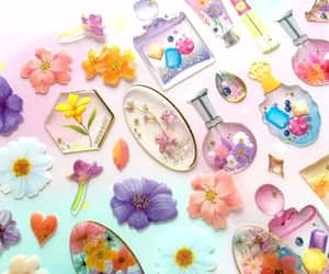 flower art, mini flower, and resin jewellery image
