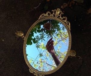 mirror, aesthetic, and hand image