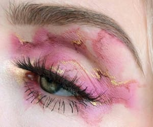 eye, make up, and pink image