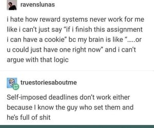 have a cookie, funny tumblr post, and reward system image