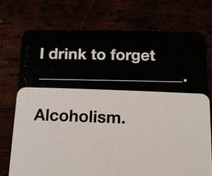 alcoholism, cards, and drinks image