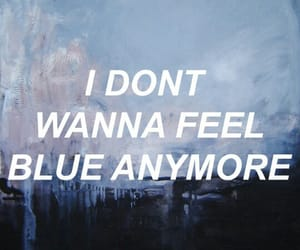 blue, quotes, and grunge image