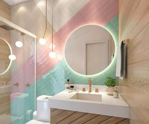 bath, colorful, and home image