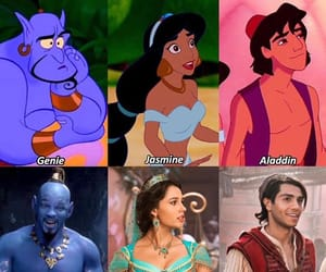animation, genie, and princess image