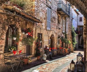 travel, italy, and assisi image