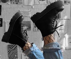 boots, grunge, and clothes image